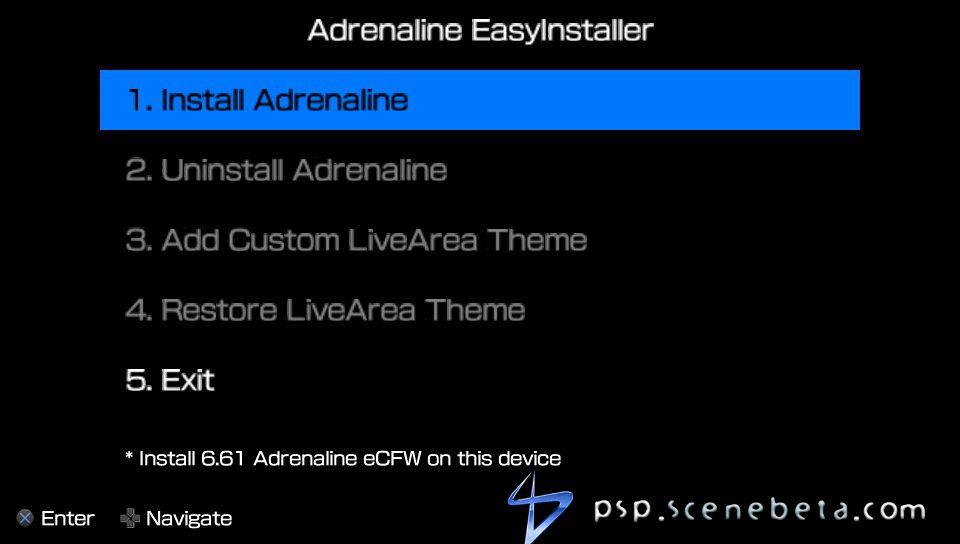Adrenaline Easy Installer | PSP SceneBeta com