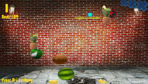 [Juego Homebrew] Fruit Ninja versión final para PSP[MU/MF] CapturaFruitNinjaVFinal