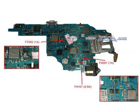 Cómo reparar fusibles dañados en nuestra PSP 1000, 2000 o