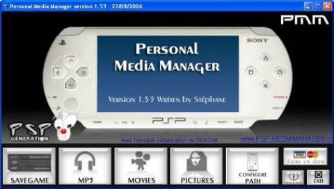 PSP Personal Media Manager | PSP SceneBeta com