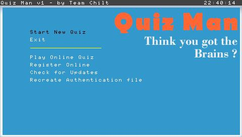 Menu Quiz Man