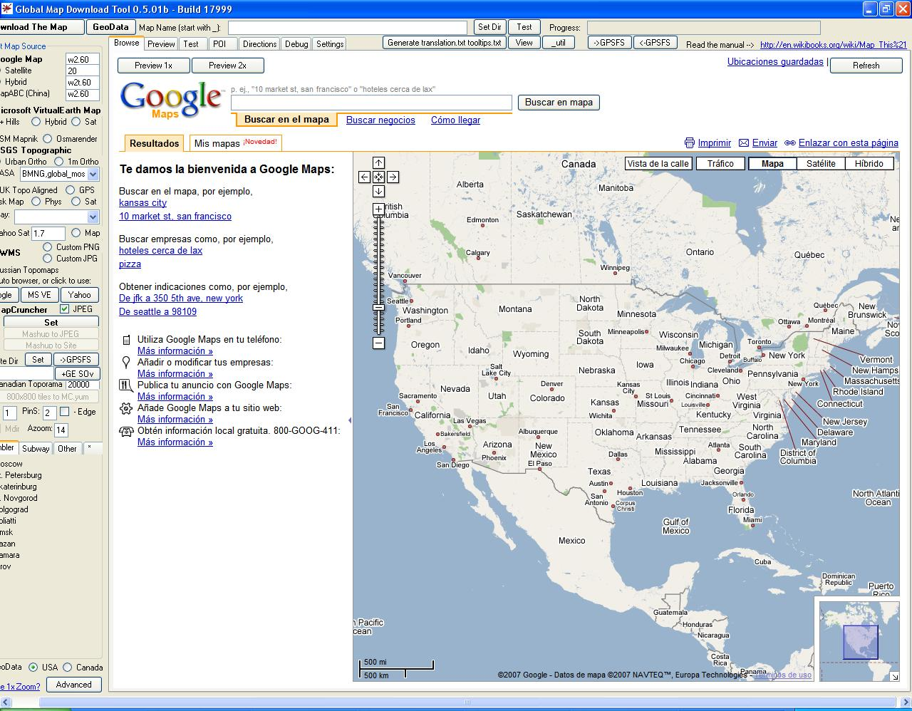 how to download maps from google